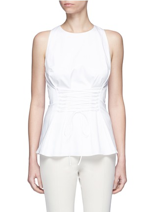 Main View - Click To Enlarge - The Row - 'Tallo' lace-up sleeveless top