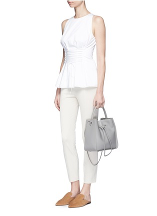Figure View - Click To Enlarge - The Row - 'Tallo' lace-up sleeveless top