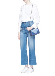 Stella McCartneyHorse appliqué cropped flared jeans