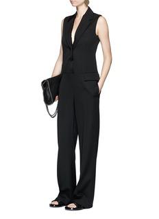 Stella McCartneySleeveless wool tuxedo jumpsuit
