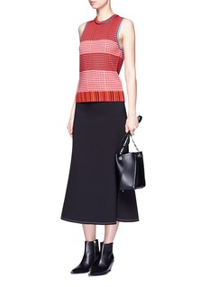 Proenza Schouler Lightweight geometric stripe knit top