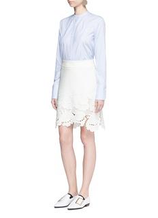 VICTORIA, VICTORIA BECKHAM'Delft' floral lace hem skirt