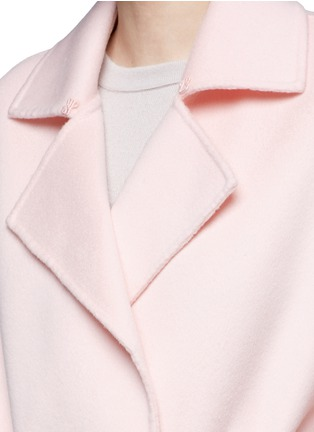 Detail View - Click To Enlarge - Ms MIN - Belted wool coat