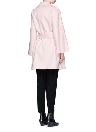 Back View - Click To Enlarge - Ms MIN - Belted wool coat