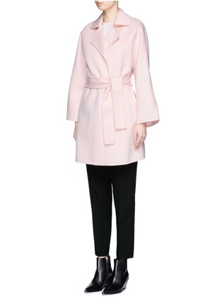 Front View - Click To Enlarge - Ms MIN - Belted wool coat