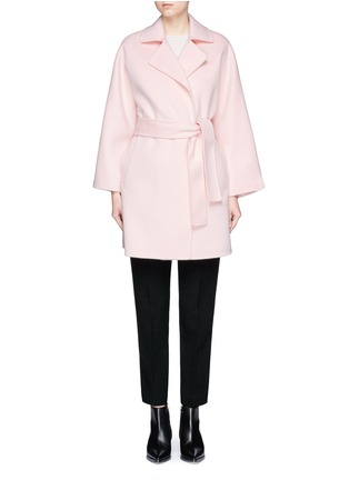 Main View - Click To Enlarge - Ms MIN - Belted wool coat