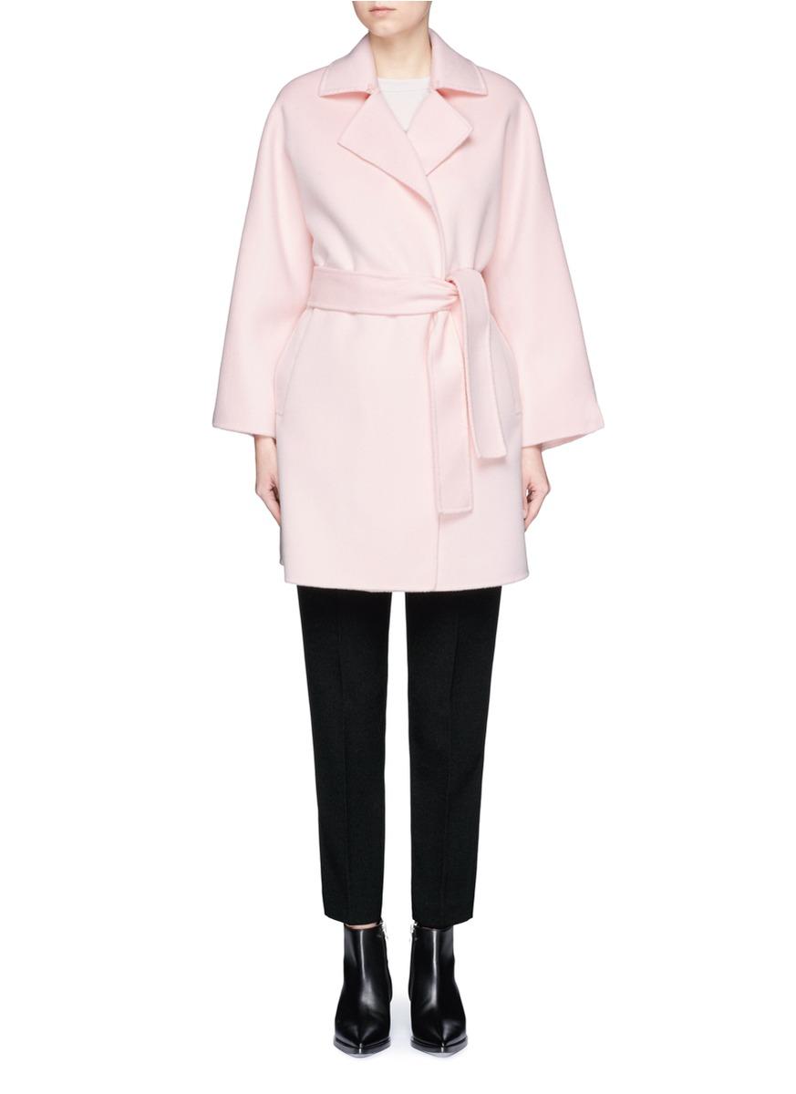 Belted wool coat by Ms MIN