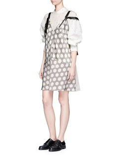 Calvin Klein CollectionPolka dot print silk satin slip dress