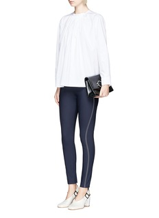 Stella McCartney Topstitch stretch cotton blend pants