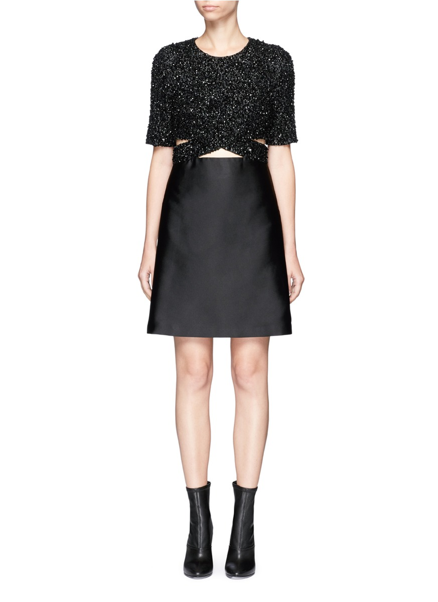 Sequined top duchesse satin dress by 3.1 Phillip Lim