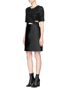 3.1 Phillip Lim Sequined top duchesse satin dress