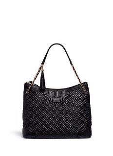 Tory Burch 'Fleming' quilted leather tote