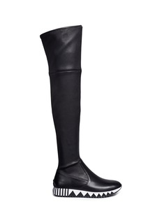 Tory Burch 'Jupiter' stretch nappa thigh high sneaker boots