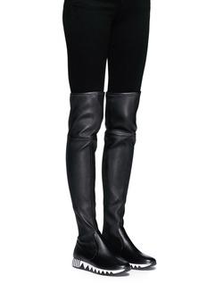 Tory Burch'Jupiter' stretch nappa thigh high sneaker boots