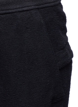 Detail View - Click To Enlarge - The Viridi-anne - Textured cotton drawstring sweatpants
