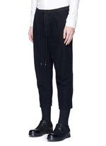 Textured cotton drawstring sweatpants