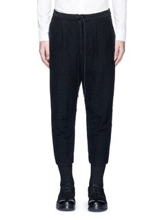 The Viridi-anne Textured cotton drawstring sweatpants