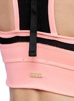 'Zip it up' mesh panel sports bra
