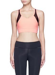 Alala'Zip it up' mesh panel sports bra