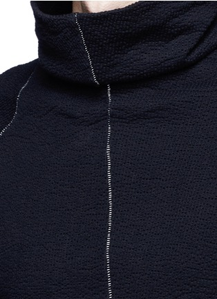 Detail View - Click To Enlarge - The Viridi-anne - Contrast seam cotton turtleneck sweater