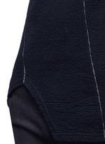 Contrast seam cotton turtleneck sweater