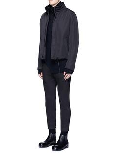 The Viridi-anneContrast seam cotton turtleneck sweater
