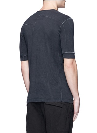 The Viridi-anne - Contrast seam cotton T-shirt