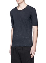 Contrast seam cotton T-shirt