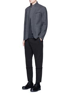 The Viridi-anneContrast seam cotton T-shirt