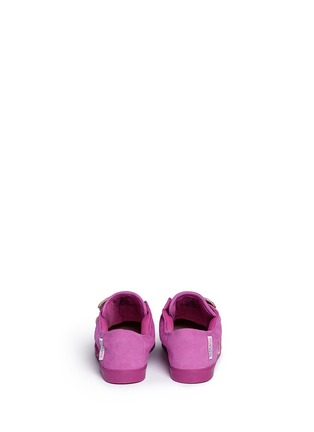 Back View - Click To Enlarge - Sophia Webster - 'Bibi Low Top Mini' butterfly embroidery toddler suede sneakers