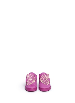 Figure View - Click To Enlarge - Sophia Webster - 'Bibi Low Top Mini' butterfly embroidery toddler suede sneakers