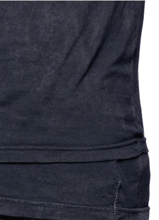 Detail View - Click To Enlarge - The Viridi-anne - Contrast seam layered cotton T-shirt
