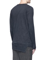 Contrast seam layered cotton T-shirt
