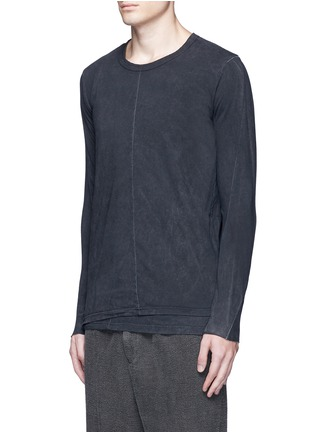 Front View - Click To Enlarge - The Viridi-anne - Contrast seam layered cotton T-shirt
