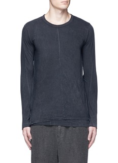 The Viridi-anne Contrast seam layered cotton T-shirt
