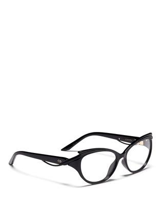 Figure View - Click To Enlarge - Dior - Curve brow bar cat eye optical glasses
