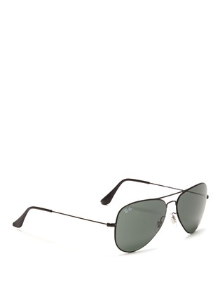 Figure View - Click To Enlarge - Ray-Ban - Flat metal aviator sunglasses