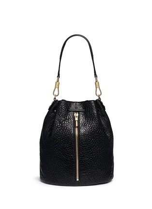 Main View - Click To Enlarge - Elizabeth and James - 'Cynnie Sling' grainy leather bucket bag