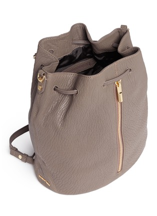 Detail View - Click To Enlarge - Elizabeth and James - 'Cynnie Sling' grainy leather bucket bag