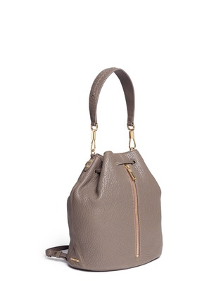 Front View - Click To Enlarge - Elizabeth and James - 'Cynnie Sling' grainy leather bucket bag