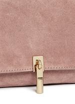 'Cynnie' micro suede crossbody bag