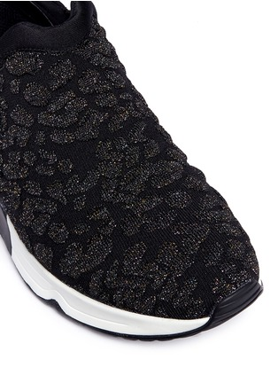 Detail View - Click To Enlarge - Ash - 'Luv' metallic cheetah jacquard knit sneakers