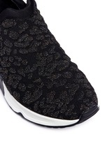 'Luv' metallic cheetah jacquard knit sneakers