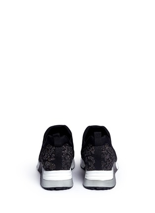 Back View - Click To Enlarge - Ash - 'Luv' metallic cheetah jacquard knit sneakers
