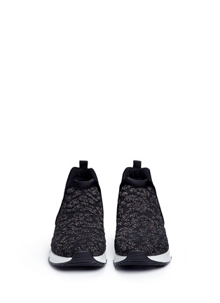 Front View - Click To Enlarge - Ash - 'Luv' metallic cheetah jacquard knit sneakers