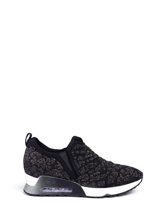 Main View - Click To Enlarge - Ash - 'Luv' metallic cheetah jacquard knit sneakers