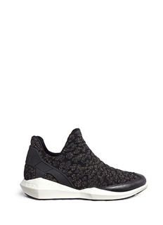 Ash 'Quid' geometric sole cheetah jacquard knit sneakers