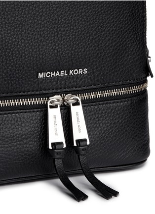 Detail View - Click To Enlarge - Michael Kors - 'Rhea' extra small leather backpack