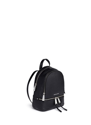 Front View - Click To Enlarge - Michael Kors - 'Rhea' extra small leather backpack