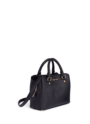 Front View - Click To Enlarge - Michael Kors - Savannah' small saffiano leather satchel